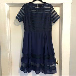 Charming Elliatt Indigo Party Dress, size Large